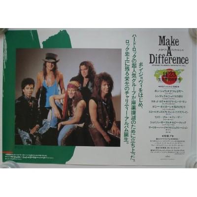 Bon Jovi - Poster - JAP - Make A Difference - PROMO - RARE