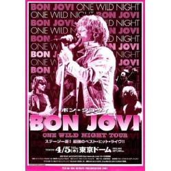 Bon Jovi - Flyer - JAP - 2001 Japan Tour