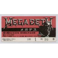 Megadeth - JAP - Concert Ticket 4.4.1987 Nagoya