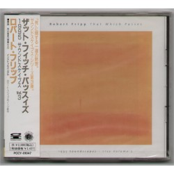 Fripp, Robert - CD - JAP - The Which Passes - PROMO - SEALED