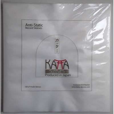 100 Stück - JAP - Katta LP Innen Folie / Inside Sleeve - eckig - square