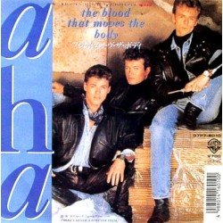 "A-ha - 7"" - JAP - The Blood that Moves"