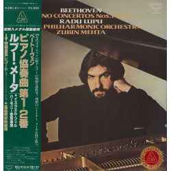 Beethoven - LP - JAP - Piano Concertos Nos.1 and 2