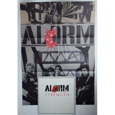 Alarm, The - LP - JAP - Strength - PROMO + Poster
