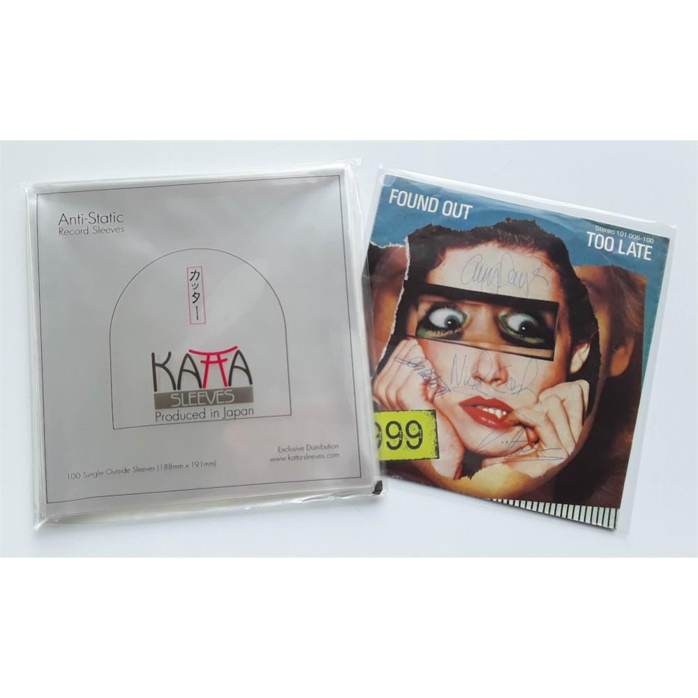 """100 Stück - JAP - 7"""" Katta Aussen Folie / Outside Sleeve with glue Flap"""