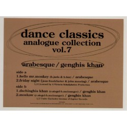 "Arabesque - 12"" - JAP - Dance Classics Vol.7"