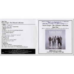 Take That - CD - JAP - Never Forget - The Ultimate Collection - PROMO ONLY